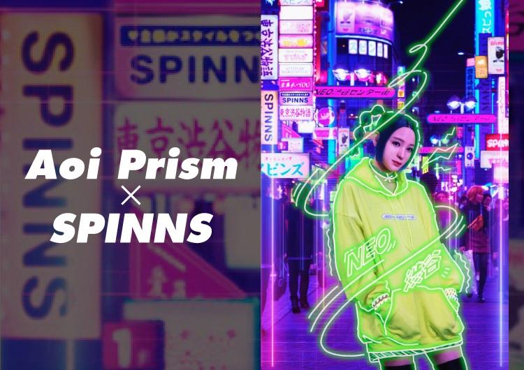 バーチャルギャル 葵プリズム が SPINNS 渋谷109店とコラボ。新商品「NEO渋谷センター街パーカー」が発売。