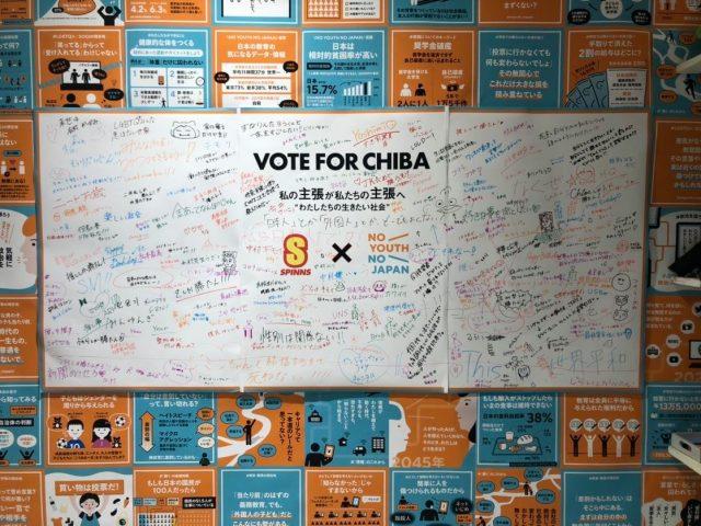 「VOTE FOR CHIBA」の現在の状況