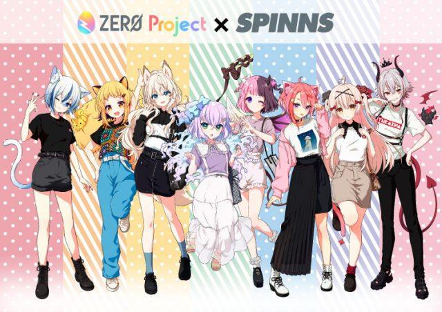 バーチャルタレントプロダクション「ZERO Project」とのコラボレーションTシャツ発売決定!